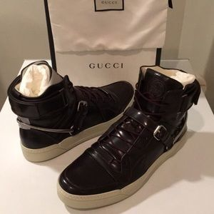 🇮🇹New Gucci Spur Tennis High-Top Sneakers Sz 15